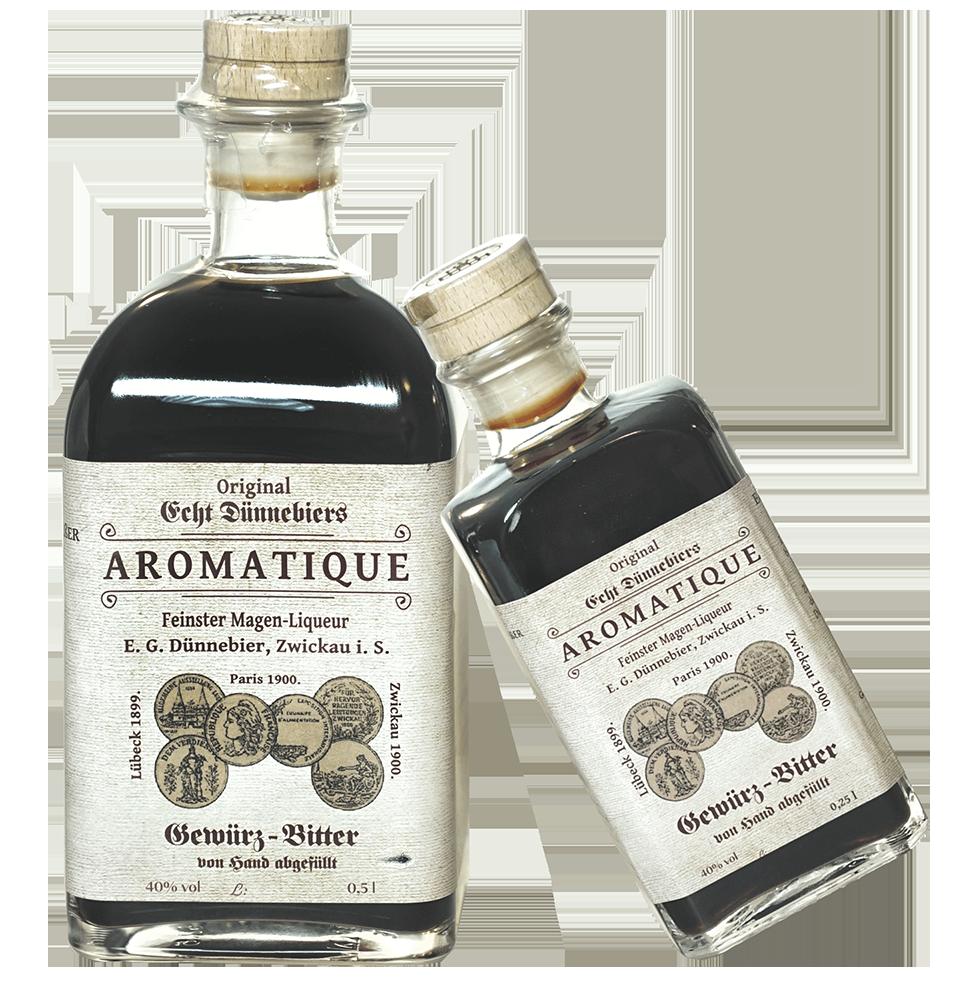 Echt Dünnebiers AROMATIQUE Kräuter Bitter  0,25l
